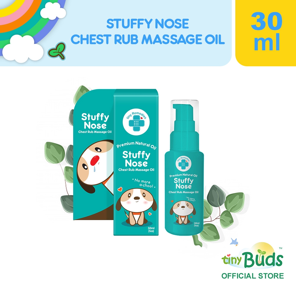 Tiny Remedies Stuffy Nose Natural Baby Chest Rub Massage Oil 30ml