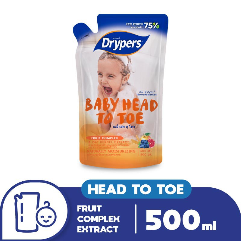 Drypers Baby Head to Toe Refill pack 500ml