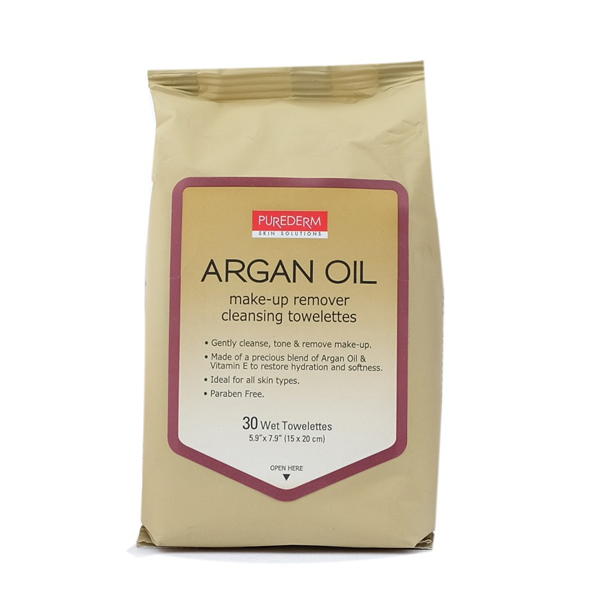PUREDERM Make Up Remover Cleansing Tissue Argan Oil 30sheets