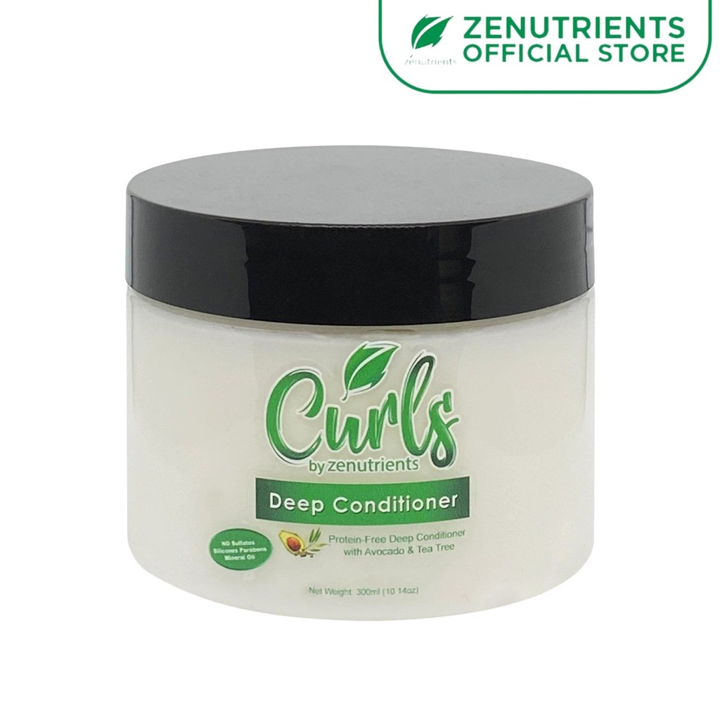 Curls by Zenutrients Avocado and Tea Tree Deep Conditioner Treatment 300g CGM / Curly Girl Method