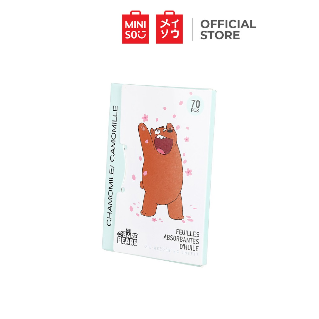 Miniso We Bare Bears Chamomile Oil Absorbing Sheets