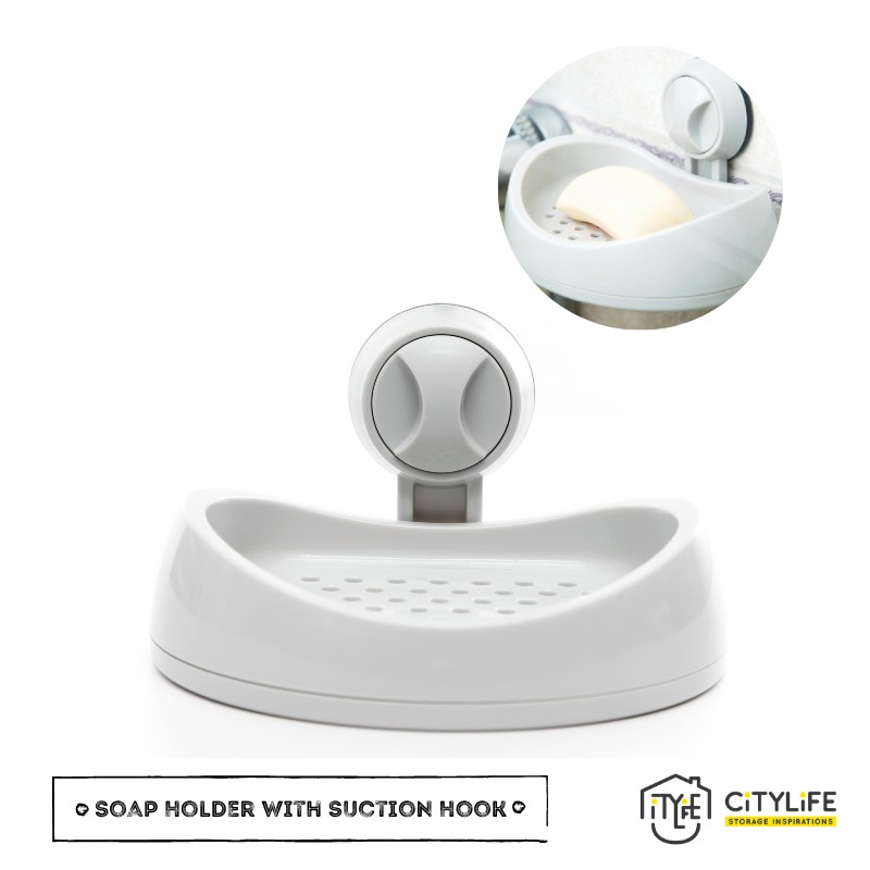 Citylife Tissue Holder or Soap Holder With Suction Hook