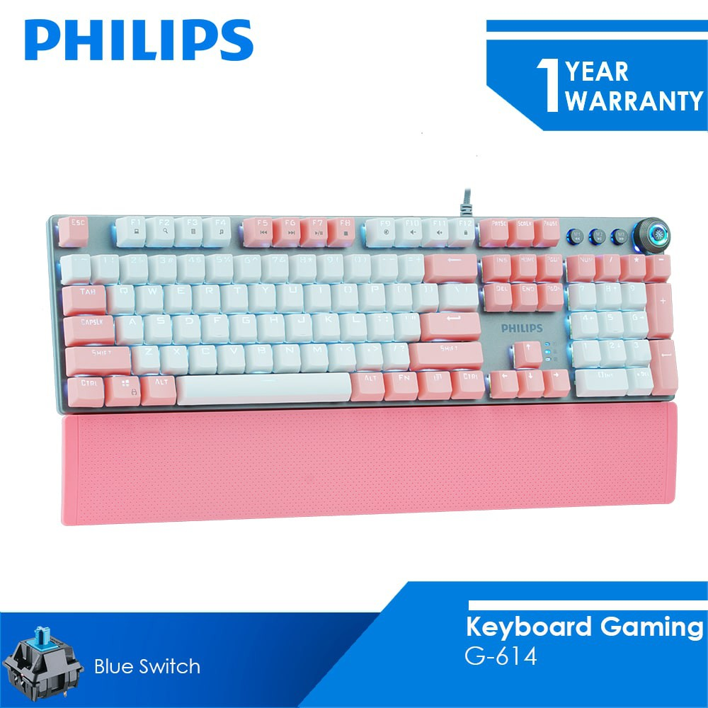 Philips Keyboard Gaming Mechanical 2.4GHz G-614