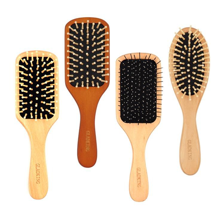 Gladking Small Size Wooden Paddle Hair Brush