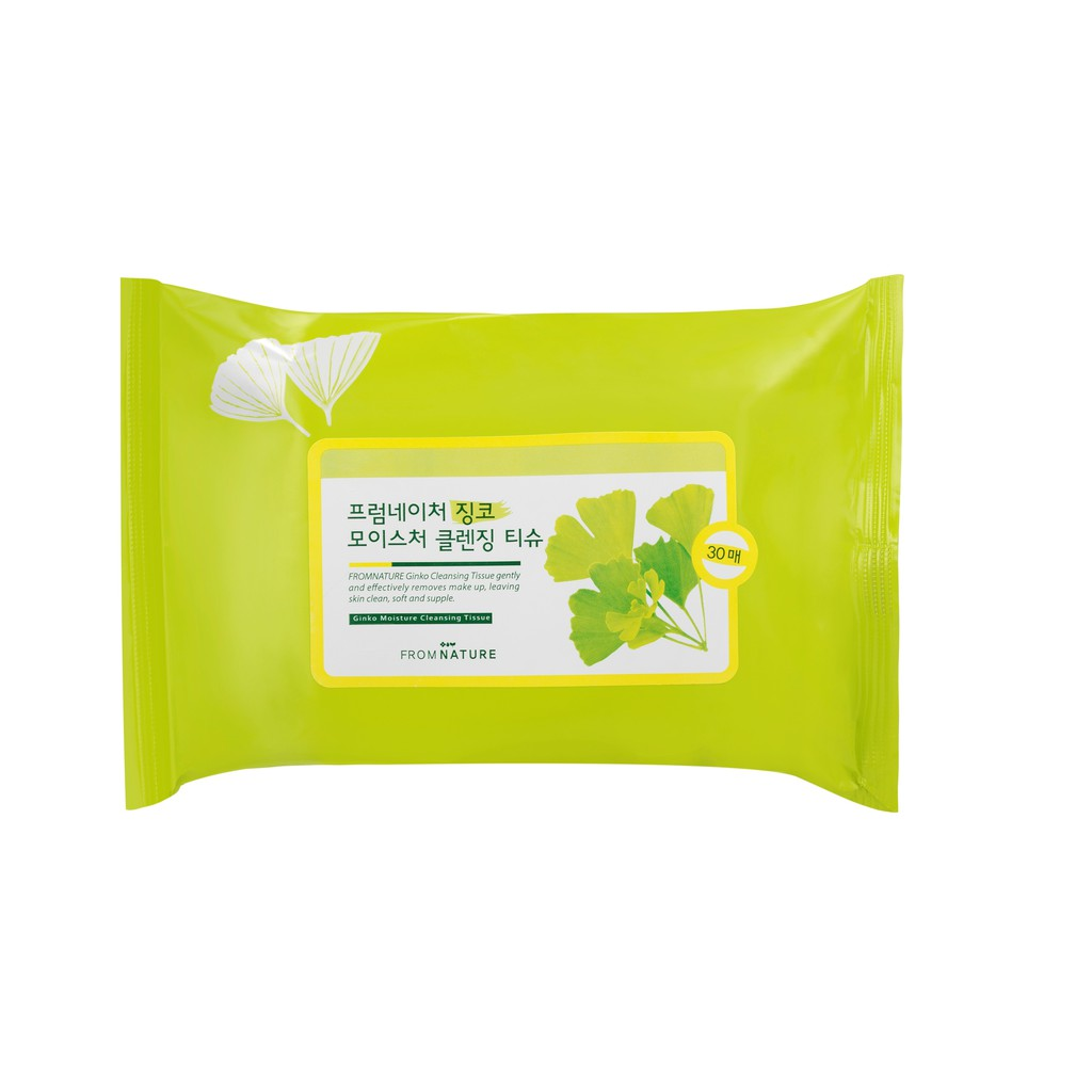 FROMNATURE Ginko Moisture Cleansing Tissue 30 Sheets