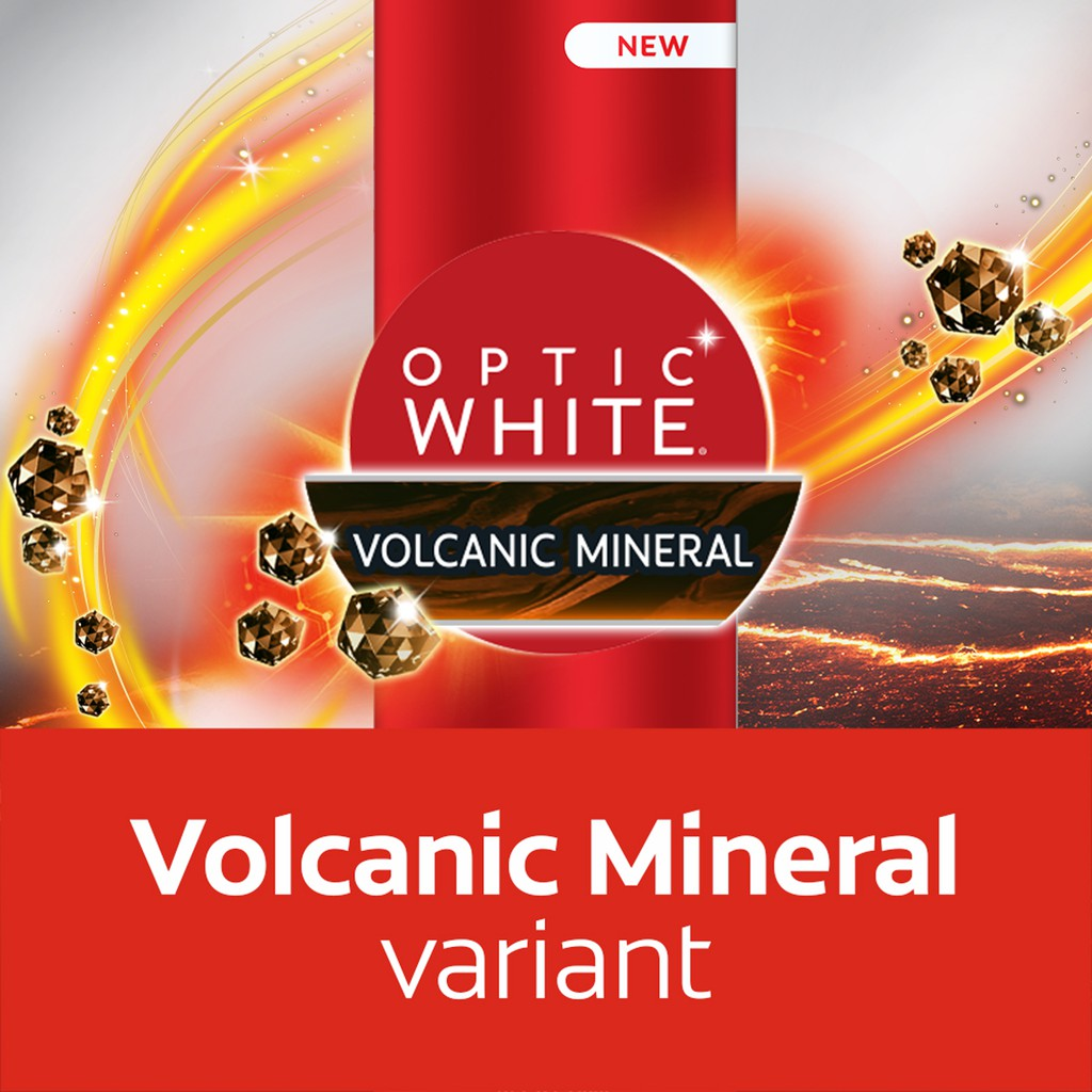 [Free Gift] Colgate Optic White Volcanic Minerals Whitening Toothpaste 100g FOC CN07658A