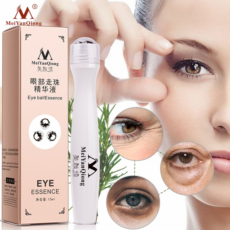 MeiYanQiong Triple Eye Care / Buy 2 Get 1 Free / Beauty Agar effectively removes dark circles and particles anti-wrinkle essence eye bags eye skin care 15mlMeiYanQiong Eye Cream / Hyaluronic Acid / Dark Circles / Wrinkle Remover / Essence