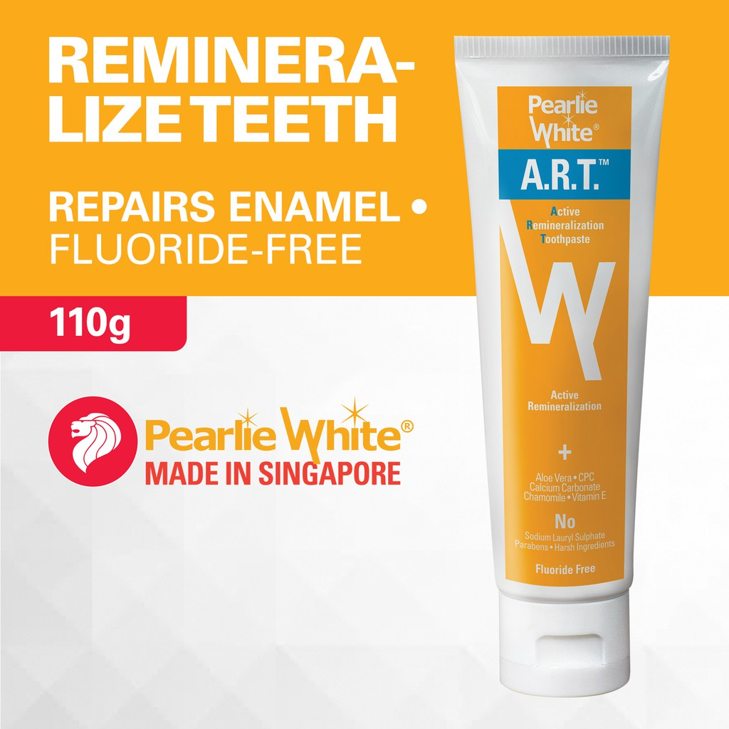 Pearlie White A.R.T. Active Remineralization Fluoride-Free Toothpaste 110gm