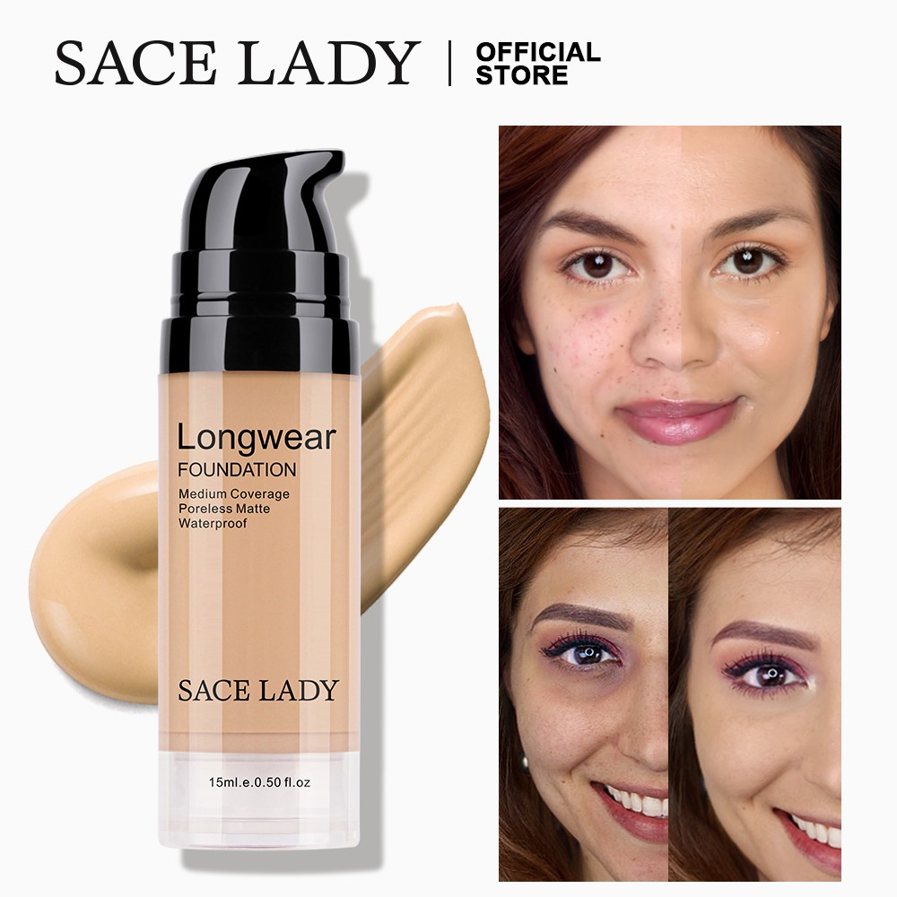 SACE LADY Liquid Foundation Flawless Matte Lightweight Smooth Face Makeup