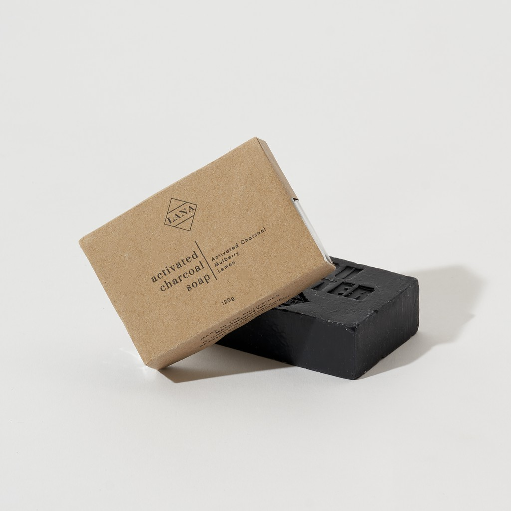 Lana Activated Charcoal Face & Body Soap 120g
