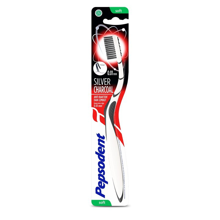 Pepsodent Silver Charcoal Sikat Gigi Soft