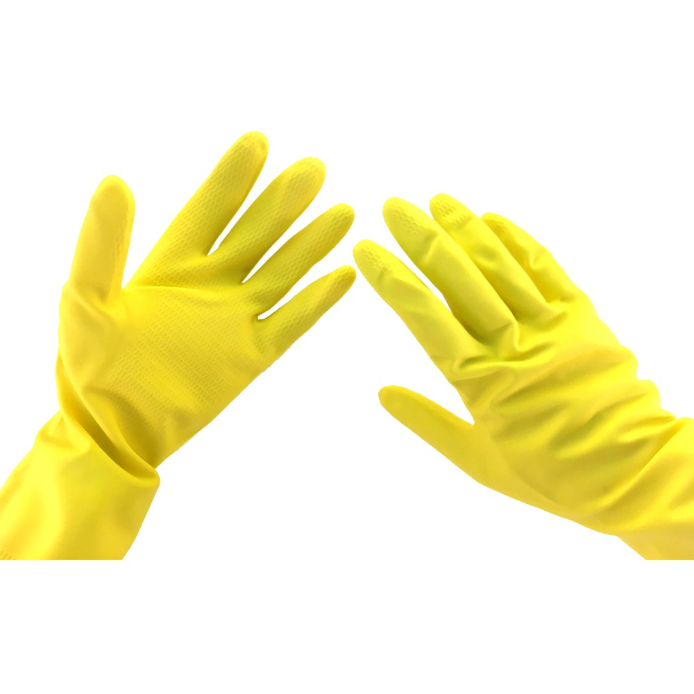 3M Scotch Brite Latex Multipurpose Gloves - Non Slip Cotton Lining Cleaning Gloves 1 Pc/Pack