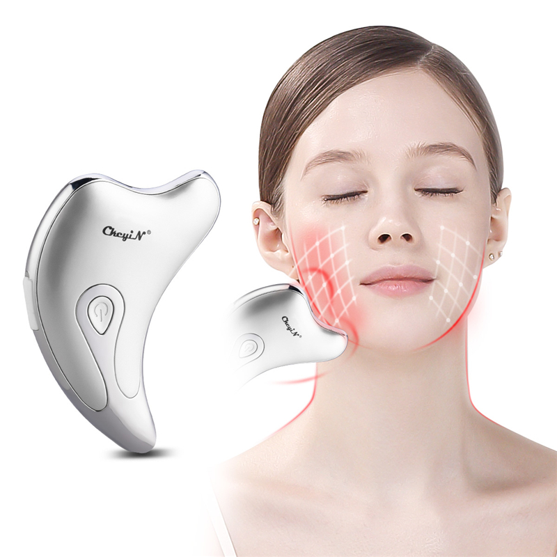 CkeyiN Electirc Face Neck Guasha Massager Wrinkle Removal Device