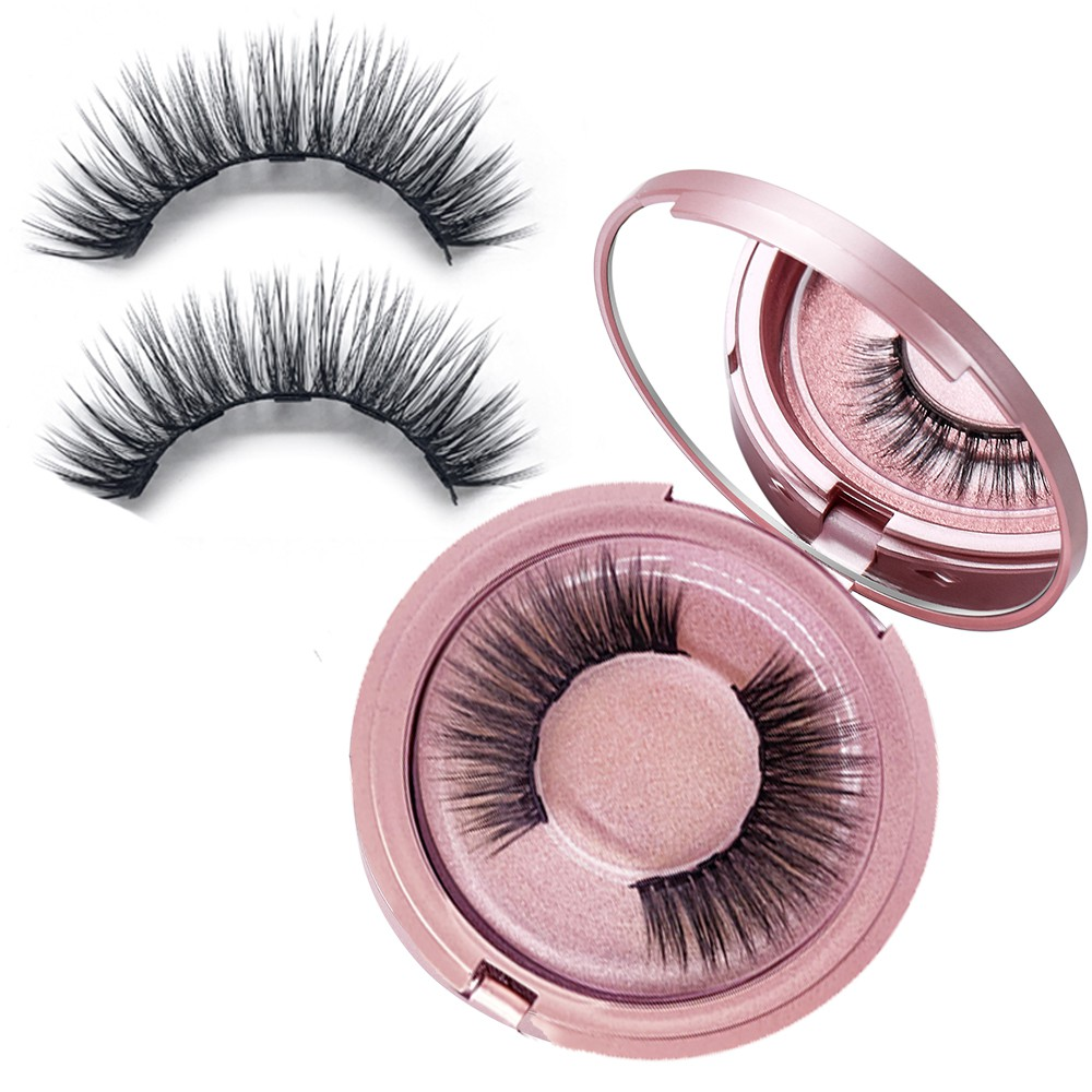 Eye Glance 1 Pair Thick Cross Curly 3D Silk And Magnetic False/Fake Beauty Eyelashes Tools Lash