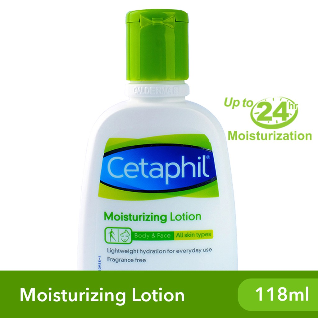 Cetaphil Moisturizing Lotion 118ml [For Dry and Sensitive Skin / Long-Lasting Hydration]