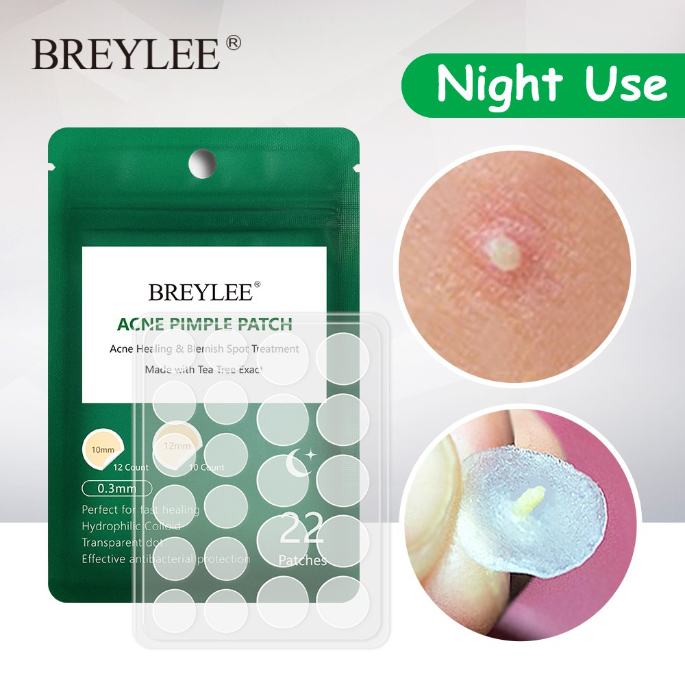 BREYLEE Acne Pimple Patch Acne Treatment Stickers Pimple Remover Night Use