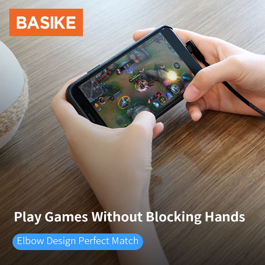 BASIKE Kabel Data Game Mobile Quick Charging Cable Lightning/Micro Type-C Kabel Iphone Fast Charging