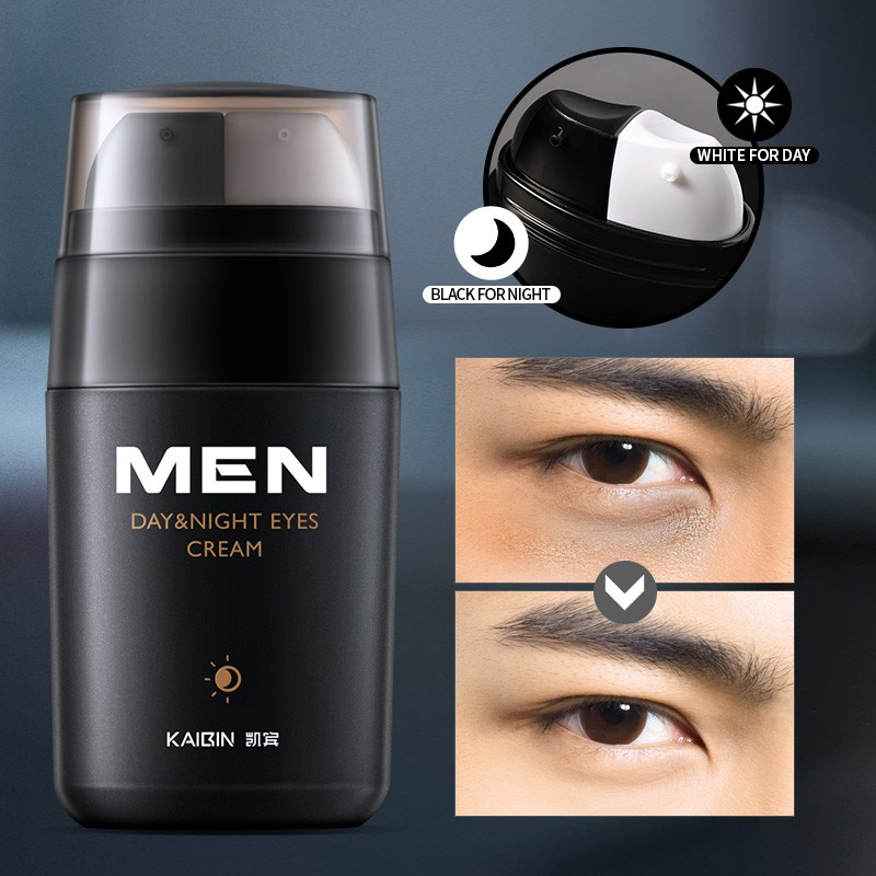 Men Day and Night Anti-wrinkle Firming Eye Cream Skin Care Black Eye Puffiness Fine Lines Wrinkles Face Care Product 20g
