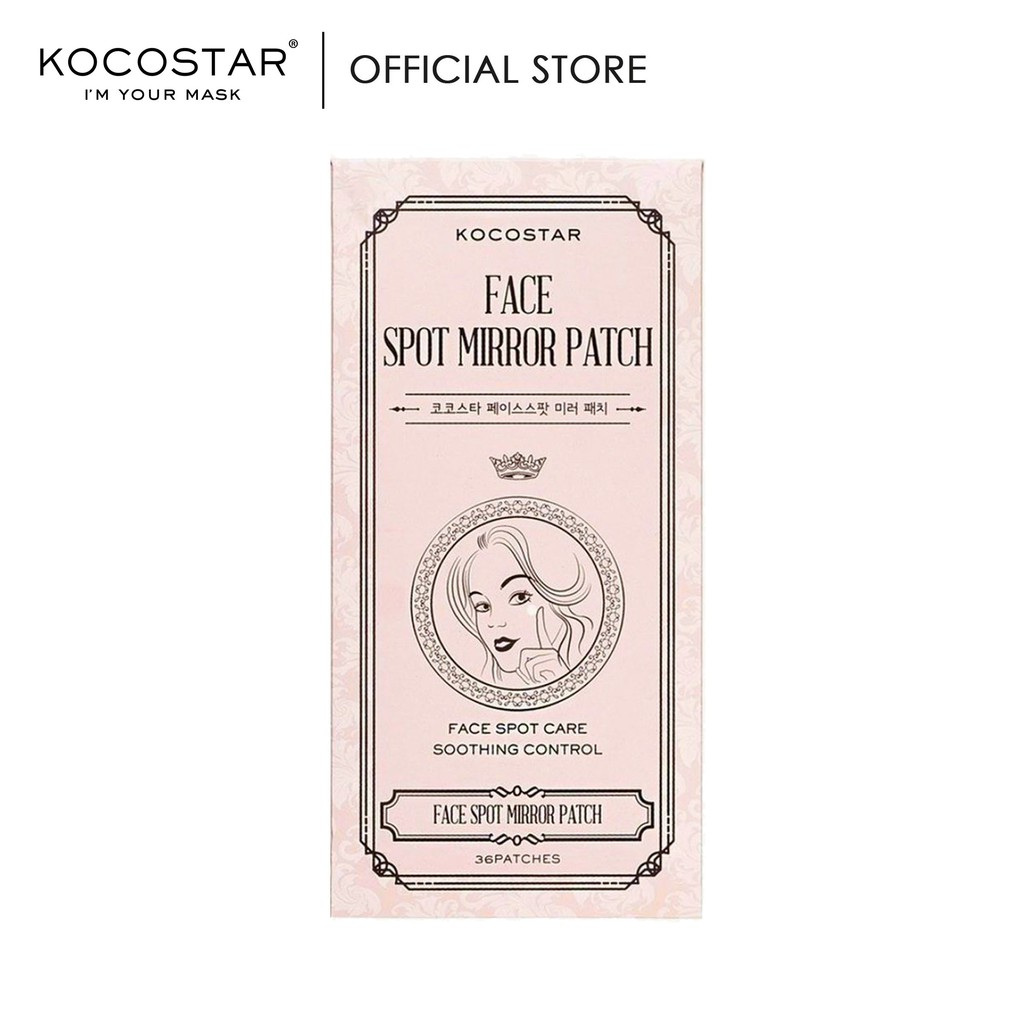 Kocostar Korean Acne Pimple Sticker Patch with Mirror 36 Patches