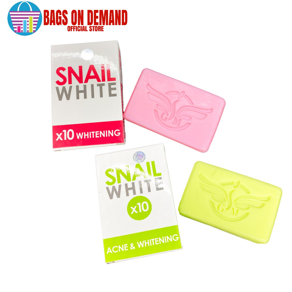 Bags on Demand Snail White 10x Whitening and Acne Soap Thailand Authentic