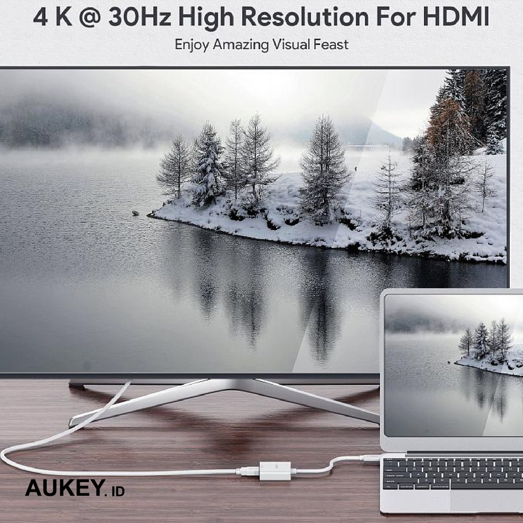 Aukey Adapter USB C to HDMI - 500299