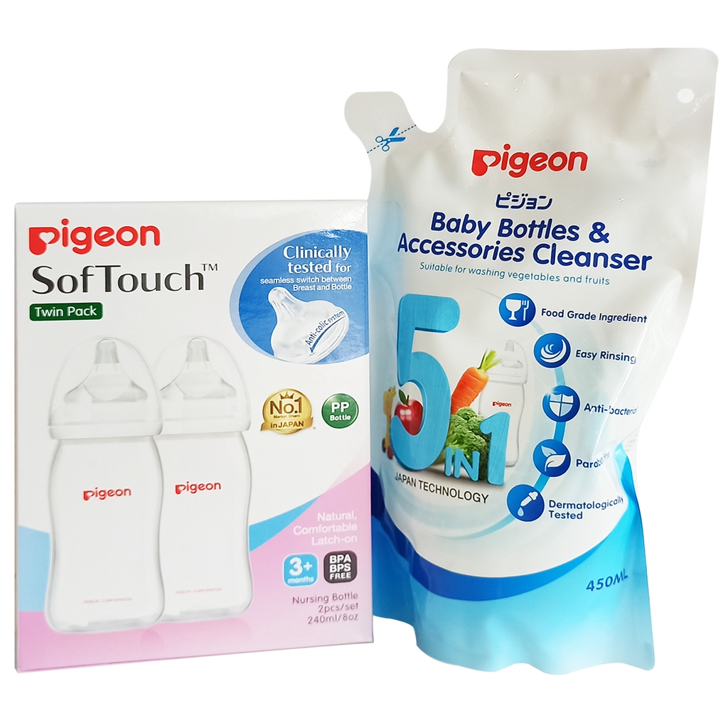 P 1000 HOLIDAY MOM AND BABY GIFT BUNDLE: Pigeon Feeding Bottle Set for 1yr and above 2
