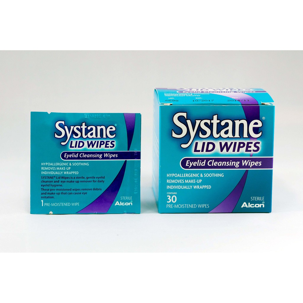 Alcon Systane Lid Wipes Eyelid Cleaning Wipes 30s