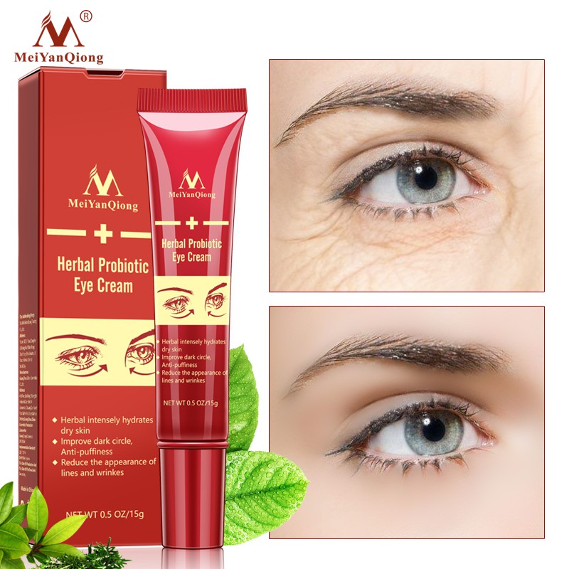 MeiYanQiong Eye Cream Hyaluronic Acid Dark Circles Wrinkle Remover Essence Of Eyes Against Swelling Anti Aging Probiotic