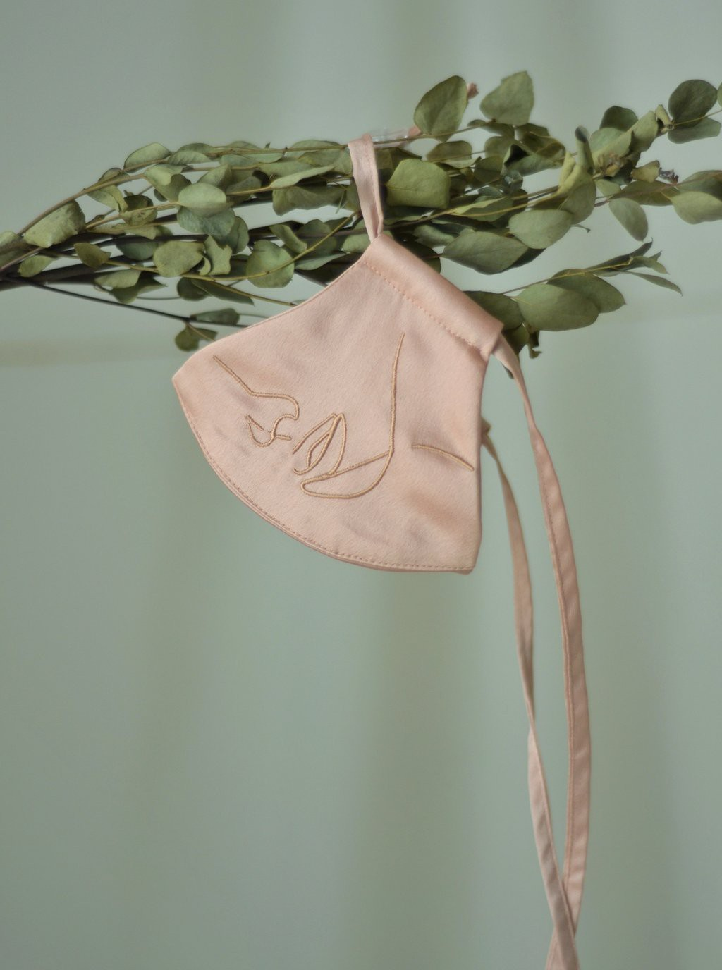 4-Ply Face Mask with String Extension in Blush