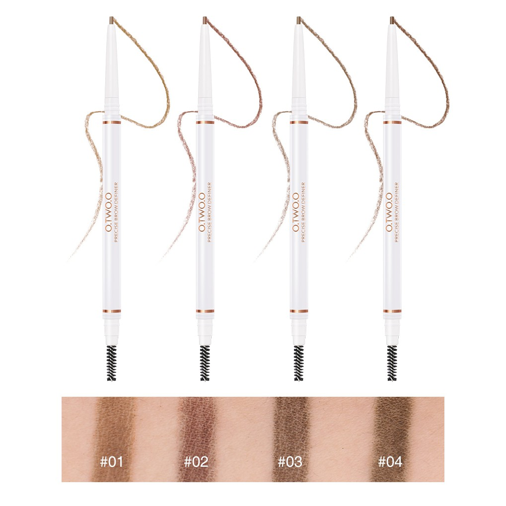 O.TWO.O 3Pcs Makeup Set Eyebrow Pencil + 2 In 1 Highlighter + Palette Full Coverage Liquid Concealer Cosmetic Kit