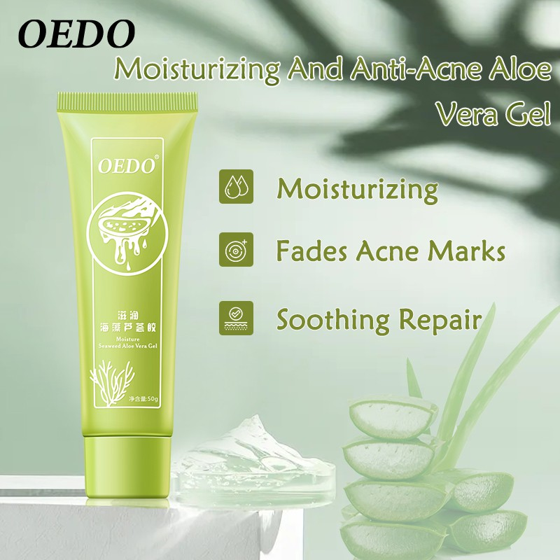 OEDO Seaweed Aloe Vera And Austrian Seaweed Extract Soothing Gel Moisturizing Brightrning Hydrating For All Skin