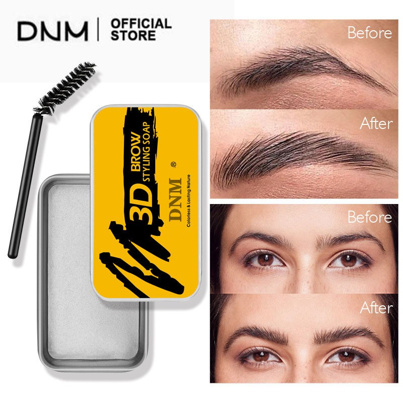 DNM Eyebrow Soap Brow Sculpt Lift Brow Styling Soap Waterproof Long Lasting Eyebrow Gel Pomade Eyebrow Soap Wax With
