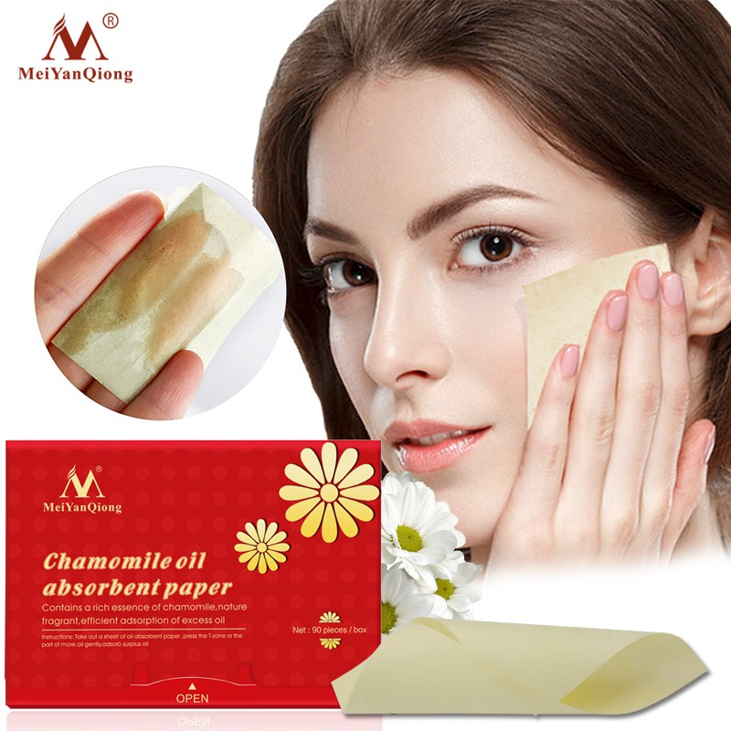 MeiYanQiong Chamomile Oil Absorbent Paper Shrink Pores Efficient Adsorption Clean Excess Oil