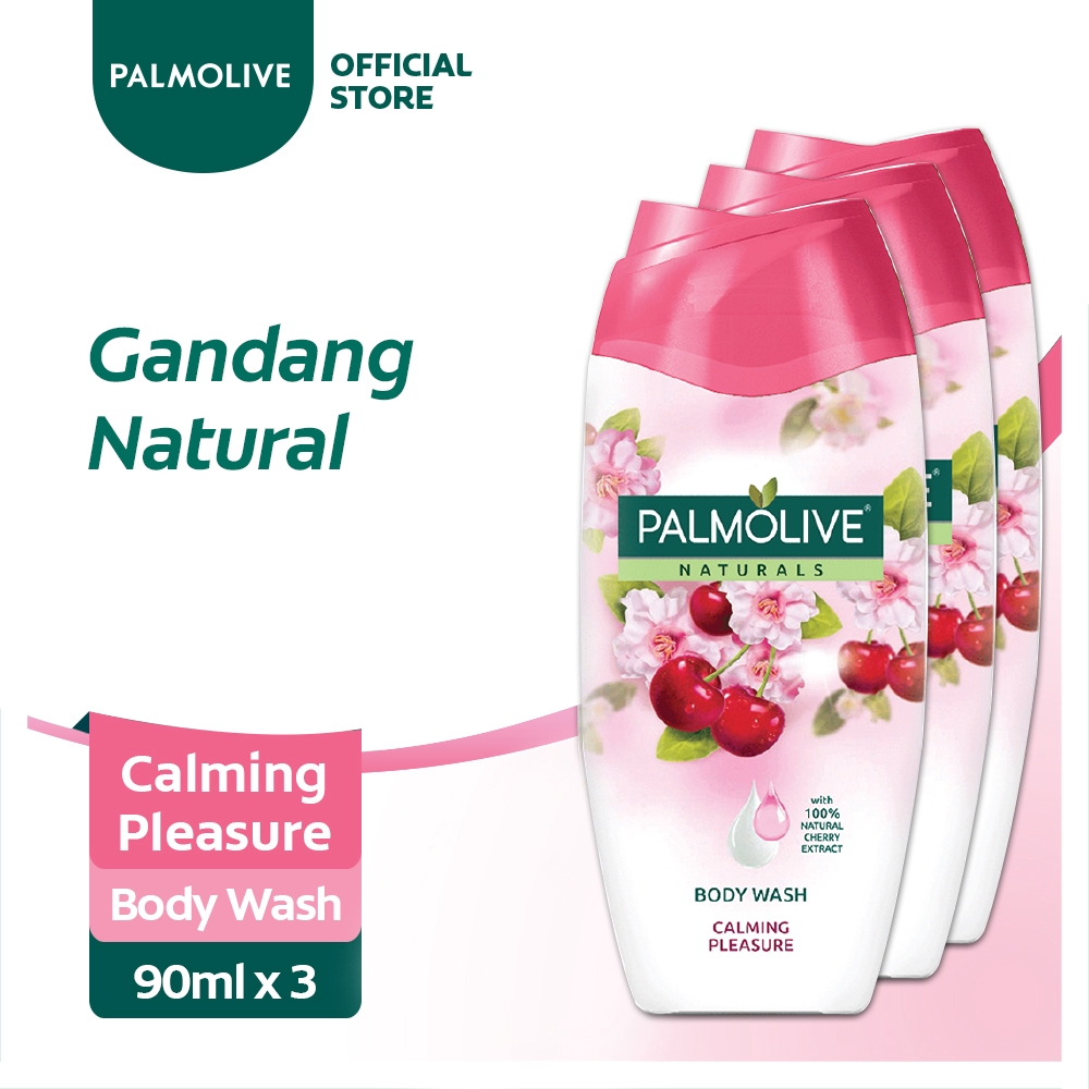 Palmolive Naturals Calming Pleasure Body Wash 90ml Pack of 3