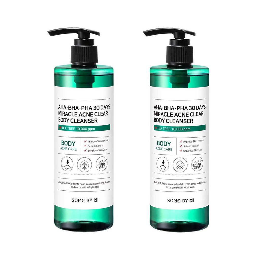 [SOME BY MI] [Bundle of 2] AHA-BHA-PHA 30 Days Miracle Acne Clear Body Cleanser, 400g (Cruelty-Free)