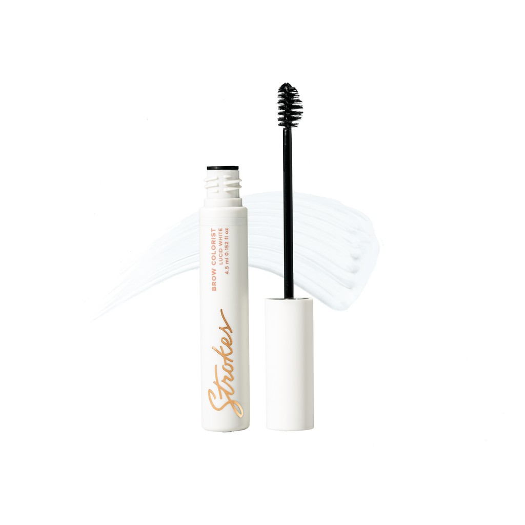 Strokes Brow Colorist in Lucid White Tinted Brow Mascara Brow Pomade