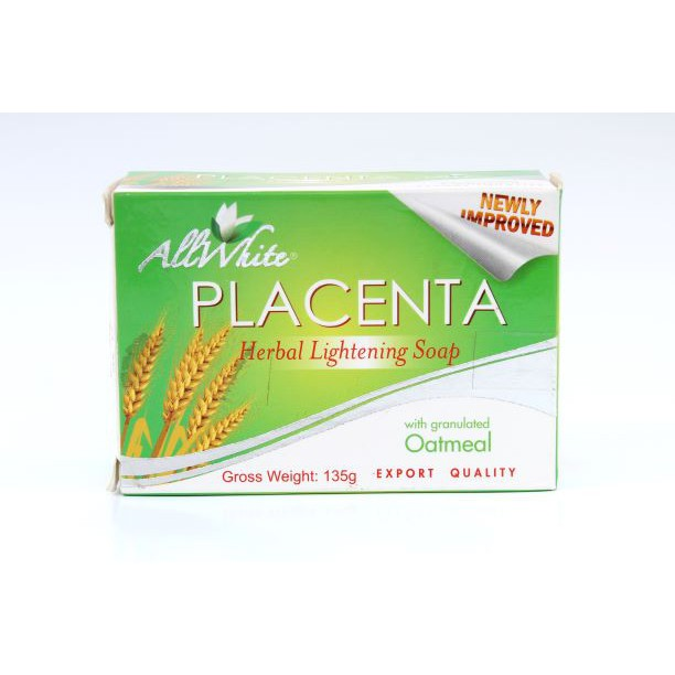 Allwhite Skinblend Placenta Soap with granulated oatmeal 135grams