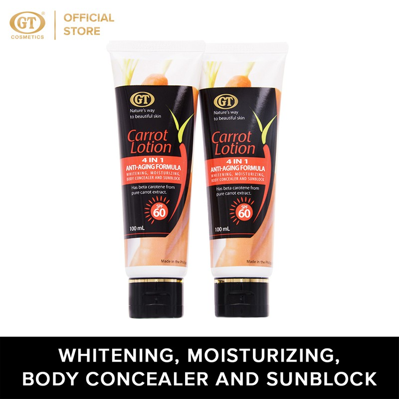 GT Carrot Lotion with SPF60 Set of 2