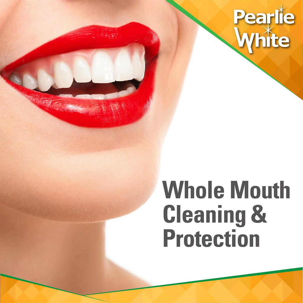 Pearlie White The Real Red Anti-Cavity Toothpaste 138gm Bundle of 2