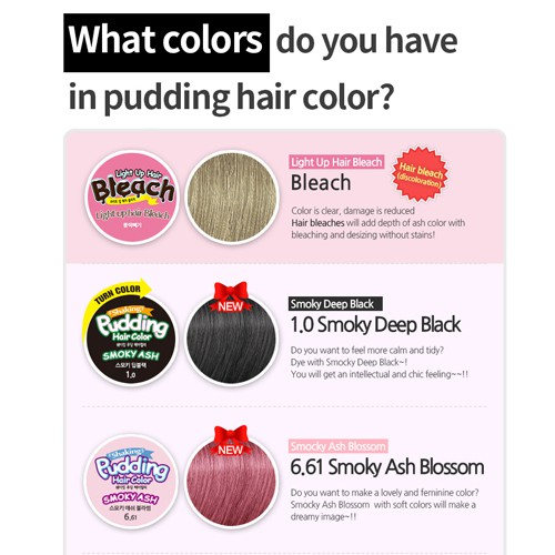 [Free Gift Hair Color Removal Sheet] 2 + 1 EZN Oliveyoung Korea Shaking Pudding Hair Color Creamy Bleach Set