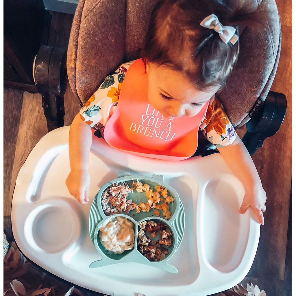 Bebamour Children's Tableware Cute Silicone Plate Baby Silicone Placemat Divided Dish Bowl Plates Food Grade