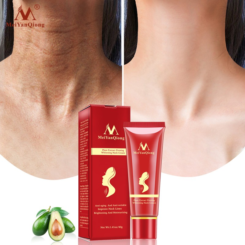 MeiYanQiong Plant Extract Hydrating Neck Cream 1 Piece Whitening Anti-Aging sKin Care 40g