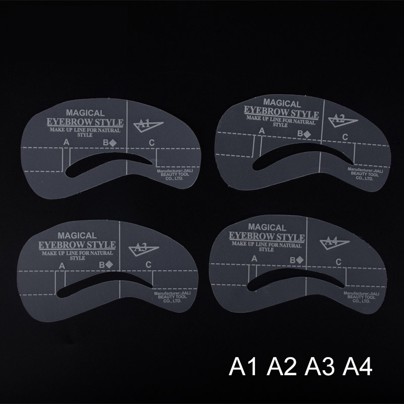 Grooming Stencil Kit Shaping DIY Beauty Eyebrow Template Make Up Tool - 24 Styles/Set 2404