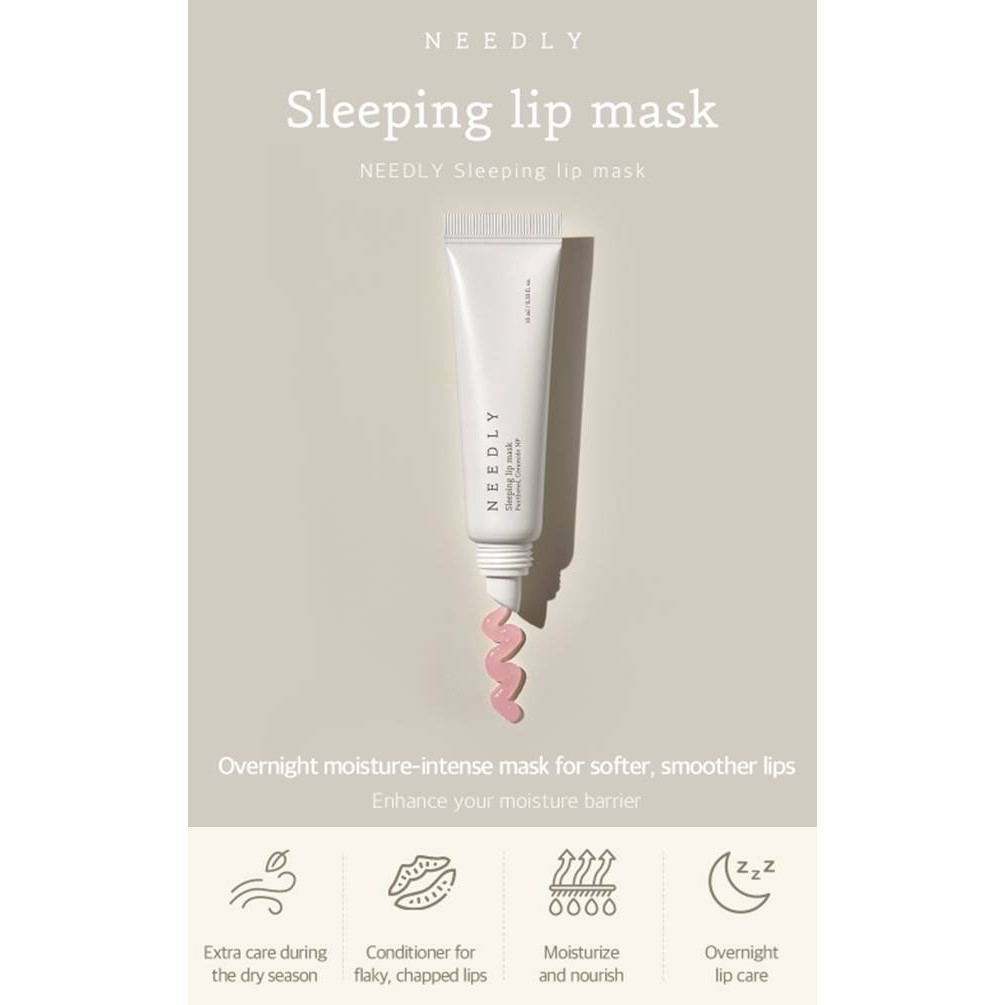 Needly Set Product - Cleansing Gel/Sleeping Lip Mask/Tint Lip Balm/Pink Oil Mist
