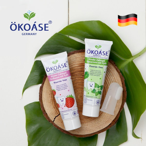 OKOASE Natural Organic Apple Flavour Kids Toothpaste 50g Fluoride Free For 6 to 24 months old