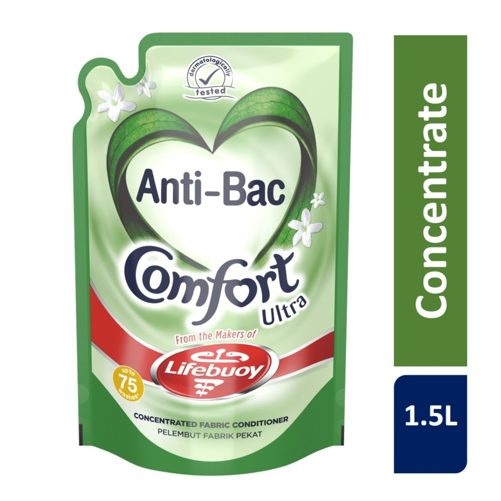 [Bundle of 6] Comfort Fabric Softener Refill Pouch Pure 1.6L/Anti-Bacterial 1.5L x 6