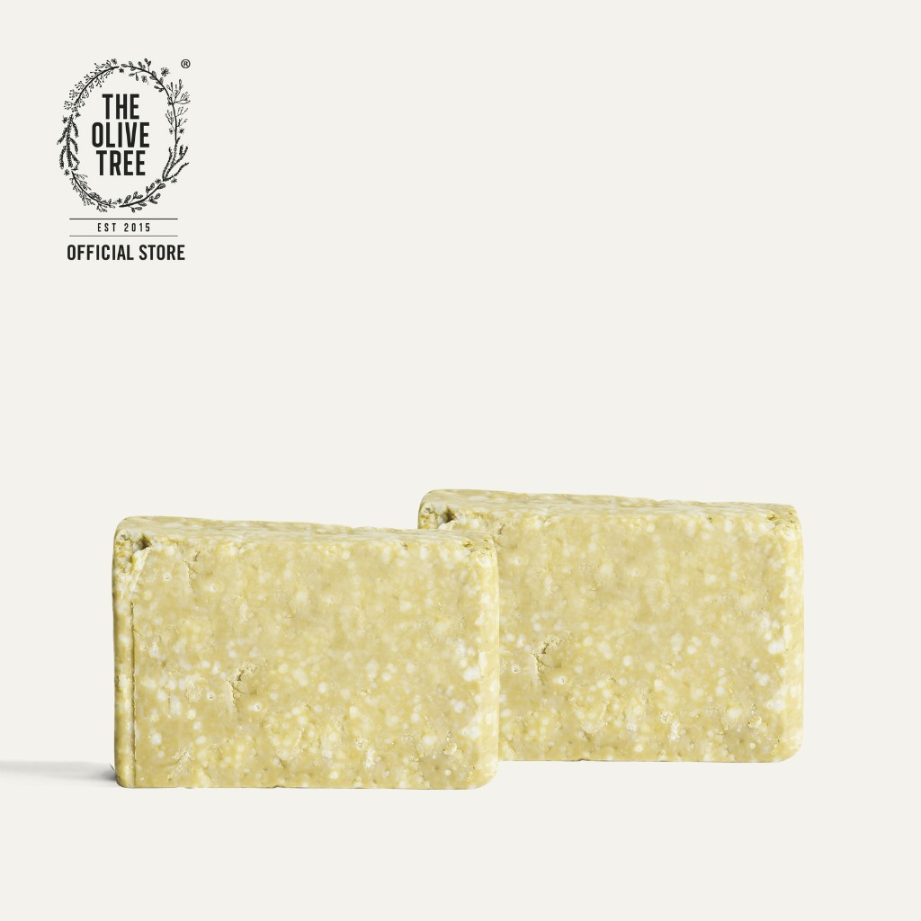 The Olive Tree Lemongrass Soap 2 Bars for Oily Skin / Reduces Acne / Moisturizing / Hydration / Natural / SLS Free