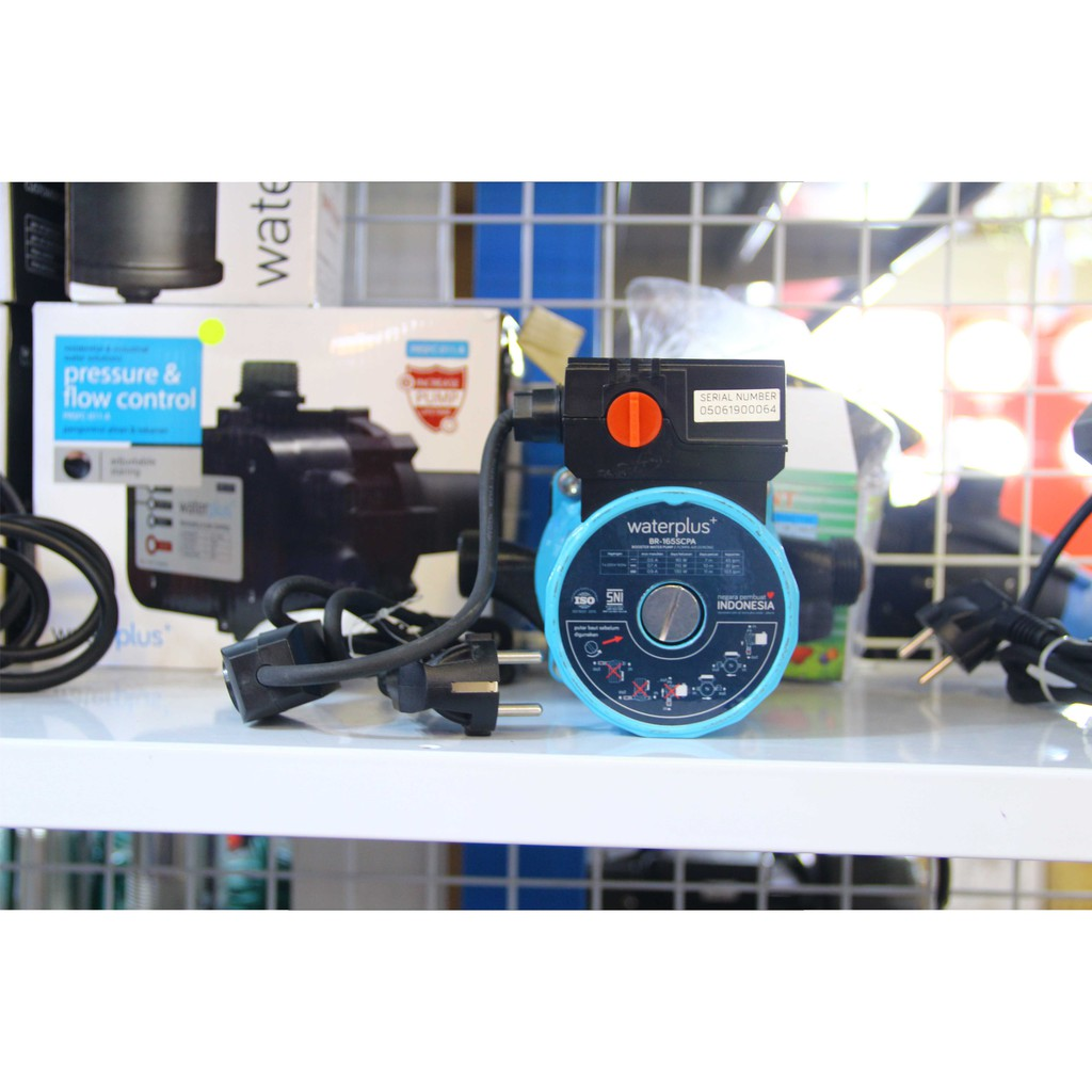 Waterplus - Pompa Air Dorong / Pendorong Booster Pump Silent Br 165Scpa
