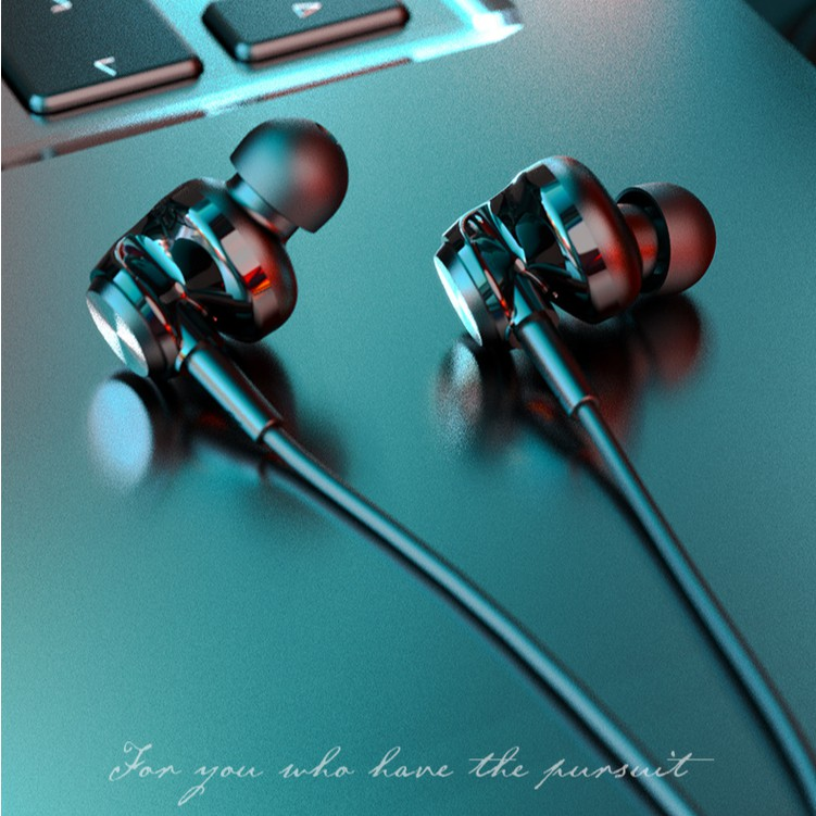 Lenovo หูฟัง QF310 headphones, lightweight in-ear headphones with mic Supports Android, iOS