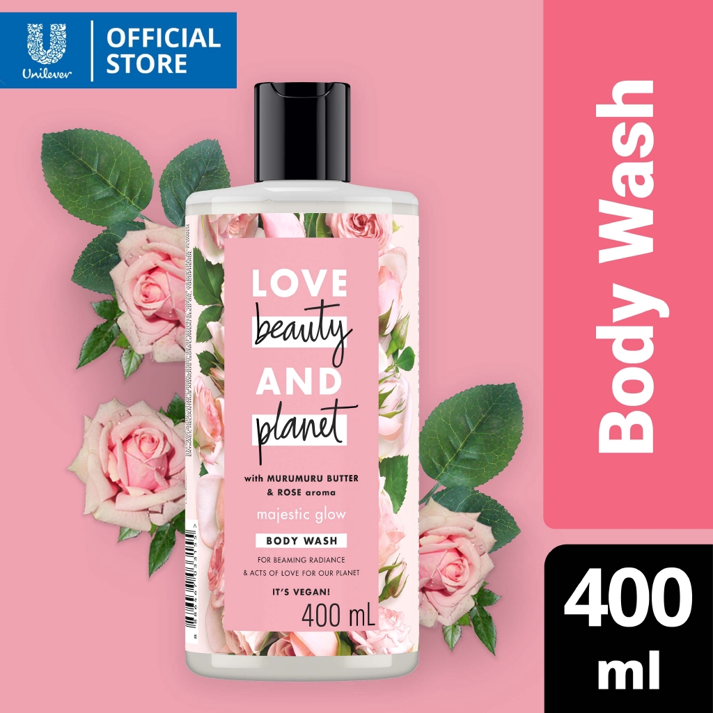 Love Beauty And Planet Body Wash Majestic Glow With Murumuru Butter and Rose Aroma 400ml